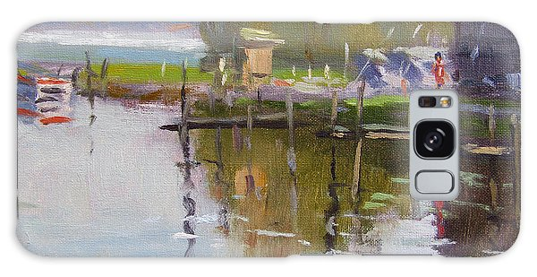 Reflections Galaxy Case - Reflections At Ashville Bay Marina by Ylli Haruni
