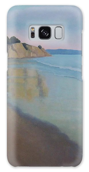 Reflections At Summerland Beach Series 3 Galaxy Case by Jennifer Boswell
