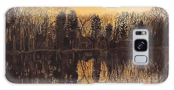 Reflections At Sunset On Bitely Lake Galaxy Case