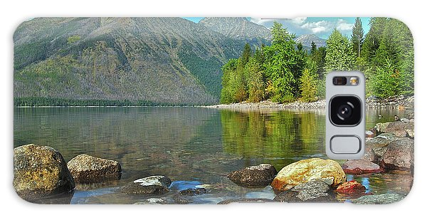 Reflections Glacier National Park  Galaxy Case by Michael Peychich