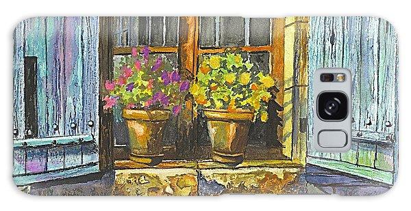 Reflections In A Window Galaxy Case by Carol Wisniewski