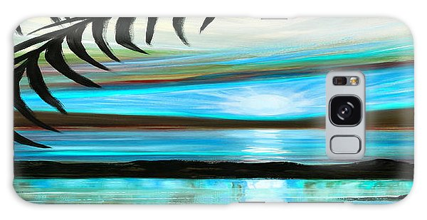 Reflections In Teal - Panoramic Sunset Galaxy Case