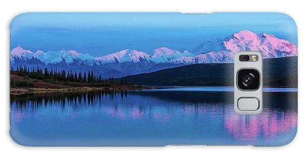 Sunset Reflections Of Denali In Wonder Lake Galaxy Case