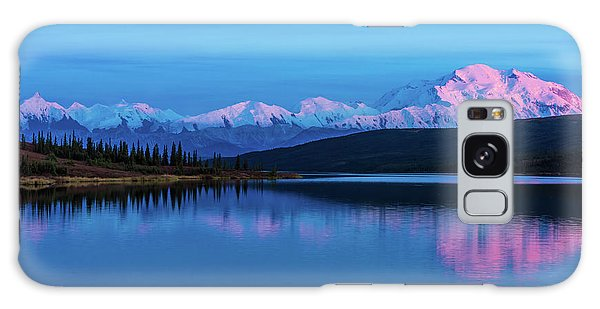 Sunset Reflections Of Denali In Wonder Lake Galaxy Case
