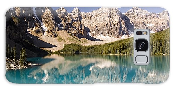 Reflections Of Moraine Lake Galaxy Case by Andrew Serff