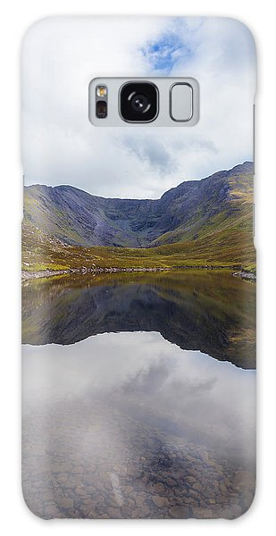 Reflections Of The Macgillycuddy's Reeks In Lough Eagher Galaxy Case by Semmick Photo