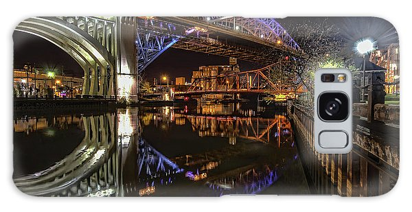 Reflections Of Veterans Memorial Bridge  Galaxy Case