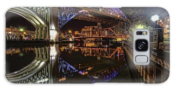 Reflections Of Veterans Memorial Bridge  Galaxy Case by Brent Durken