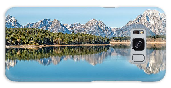 Teton Range Galaxy Case - Reflections On Jackson Lake by James Udall
