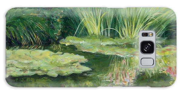 Reflections On Monets Lily Pond Galaxy Case