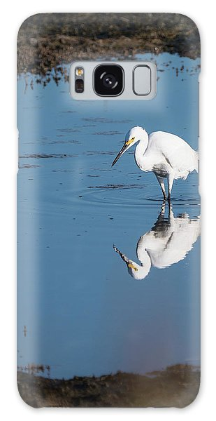 Reflections White Egret Galaxy Case