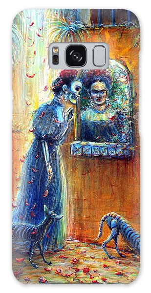 Reflejo De Frida Galaxy Case by Heather Calderon
