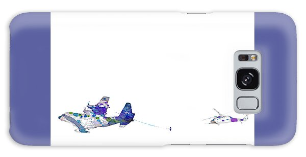 Refueling Watercolor On White Galaxy Case