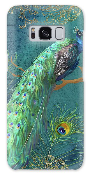 Peacock Galaxy S8 Case - Regal Peacock 3 Midnight by Audrey Jeanne Roberts
