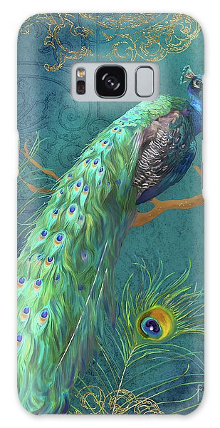 Peacocks Galaxy Case - Regal Peacock 3 Midnight by Audrey Jeanne Roberts