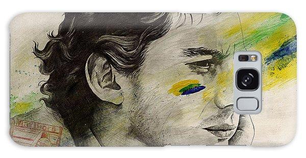 Sport Art Galaxy Case - Rei Do Brasil - Tribute To Ayrton Senna Da Silva by Marco Paludet