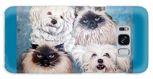 Reigning Cats N Dogs Galaxy Case