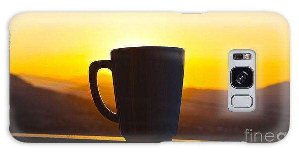 Relax At Sunset Galaxy Case by David Warrington