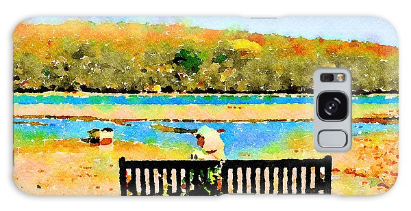 Galaxy Case featuring the painting Relax Down By The River by Angela Treat Lyon