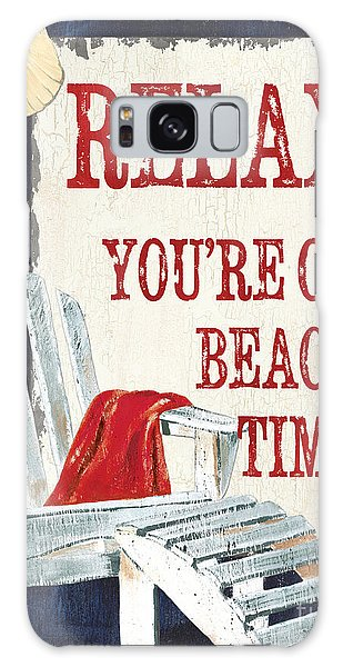 Adirondack Chair Galaxy Case - Relax You're On Beach Time by Debbie DeWitt