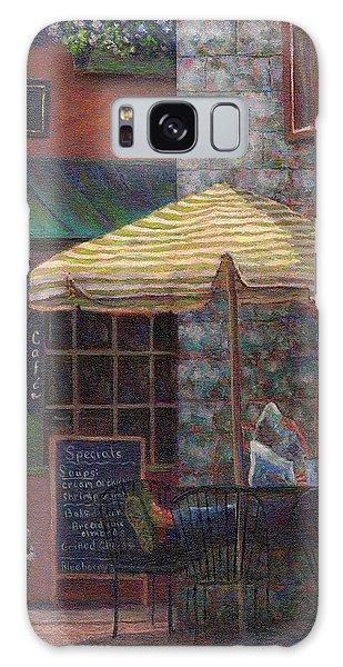 Relaxing At The Cafe Galaxy Case by Susan Savad