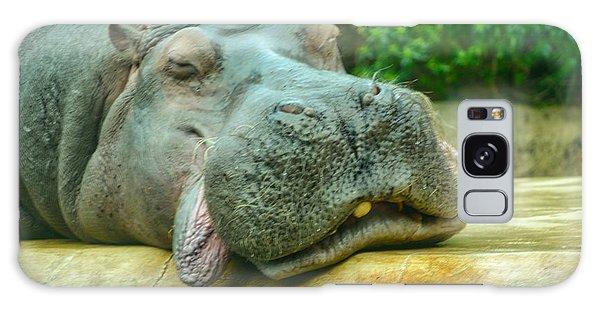 Relaxing Hippo Galaxy Case