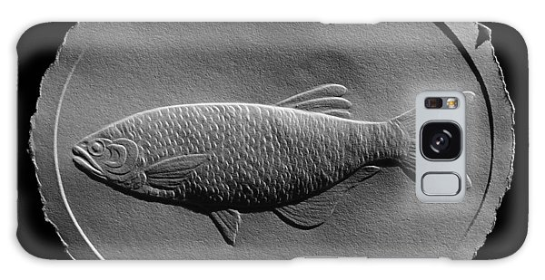 Relief Drawing Of A Freshwater Fish Galaxy Case