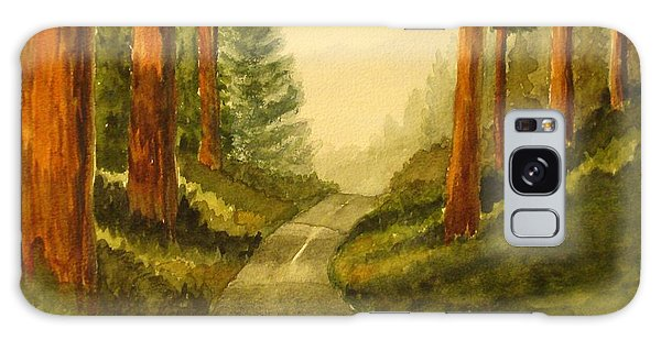 Remembering Redwoods Galaxy Case by Marilyn Jacobson