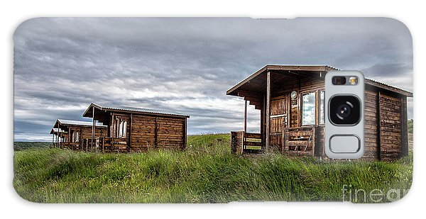 Galaxy Case featuring the photograph Remote Cabins Myvatn Iceland by Edward Fielding
