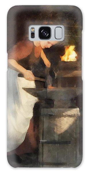 Renaissance Lady Blacksmith Galaxy Case