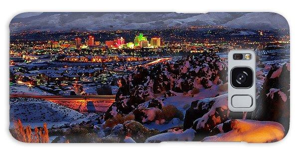 Reno Clearing Snowfall Galaxy Case