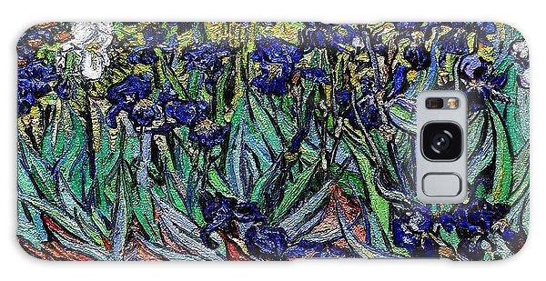 replica of Van Gogh irises Galaxy Case by Pemaro