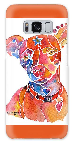 Rescue Dog - Mooch Galaxy Case by Jo Lynch