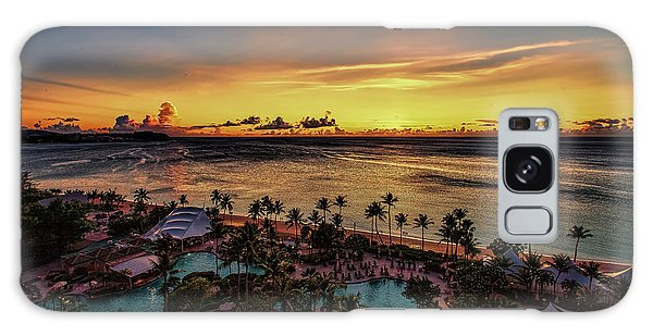 Galaxy Case featuring the photograph Resort Sunset by Ray Shiu