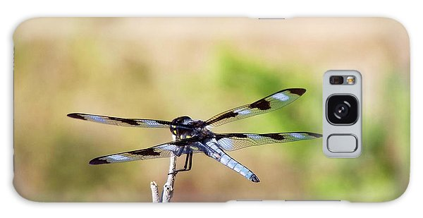 Galaxy Case featuring the photograph Rest Area, Dragonfly On A Branch by Shelli Fitzpatrick