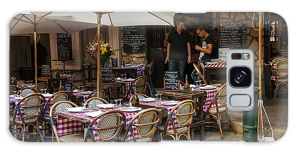 Outdoor Dining Galaxy Case - Restaurant On Rue Pairoliere In Nice by Elena Elisseeva