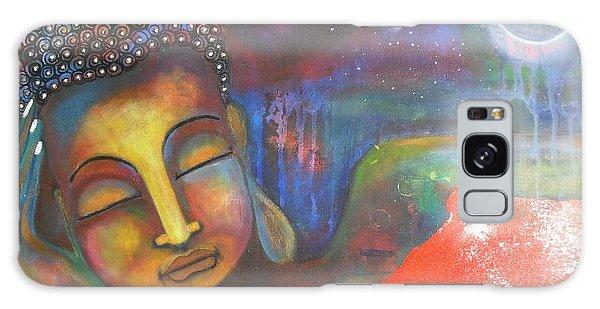 Buddha Resting Under The Full Moon  Galaxy Case
