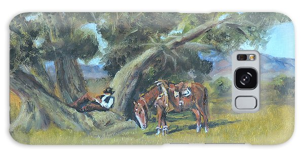 Resting Cowboy Painting A Study Galaxy Case by  Luczay