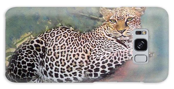 Resting Leopard Galaxy Case