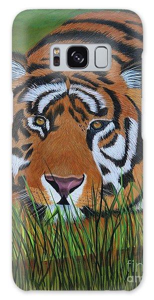 Resting Tiger  Galaxy Case by Myrna Walsh