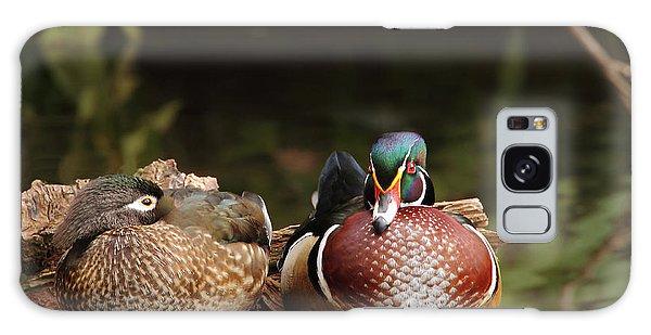 Resting Wood Ducks Galaxy Case