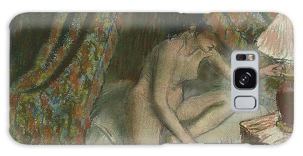 Beautiful Girl Galaxy Case - Retiring by Edgar Degas