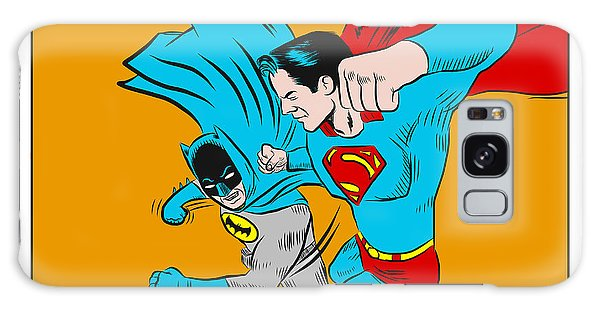Galaxy Case featuring the digital art Retro Batman V Superman by Antonio Romero