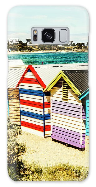Shed Galaxy Case - Retro Beach Boxes by Jorgo Photography - Wall Art Gallery