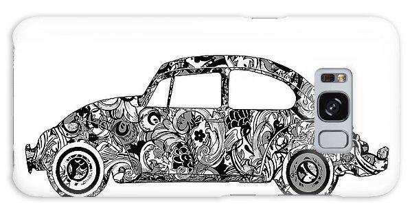 Sixties Galaxy Case - Retro Beetle Car 2 by Bekim M