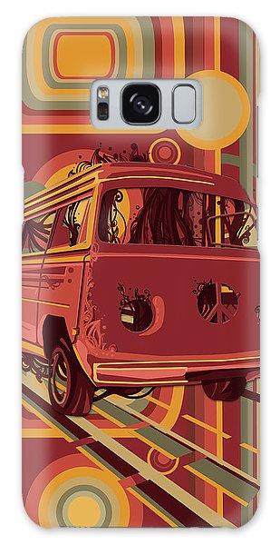 Sixties Galaxy Case - Retro Camper Van 70s by Bekim M