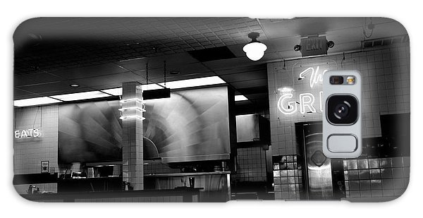 Retro Diner In Athens, Georgia -black And White Galaxy Case