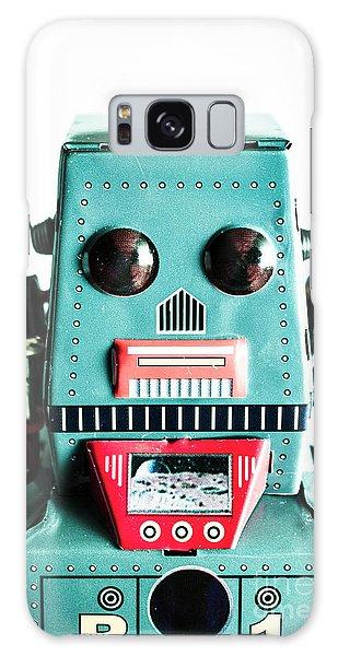 Metal Galaxy Case - Retro Eighties Blue Robot by Jorgo Photography - Wall Art Gallery