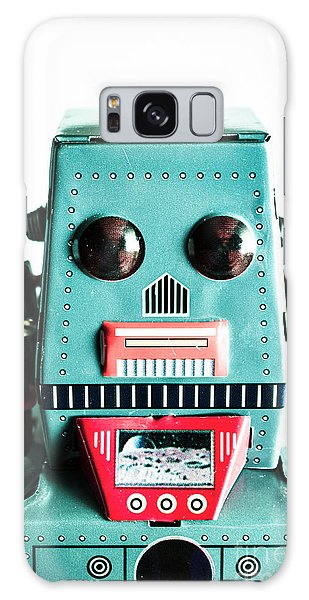 1950s Galaxy Case - Retro Eighties Blue Robot by Jorgo Photography - Wall Art Gallery