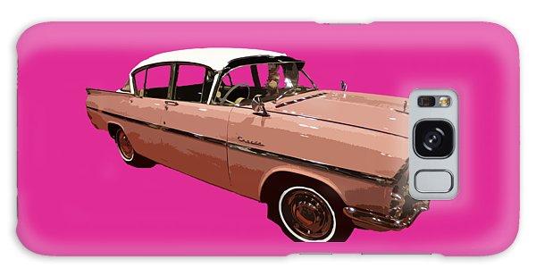 Retro Pink Car Art Galaxy Case